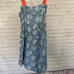 Like new! Denim floral dress